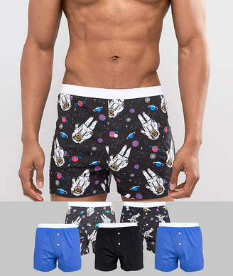 Asos Design DESIGN Jersey Boxers With Animal Space Print 5 Pack Save