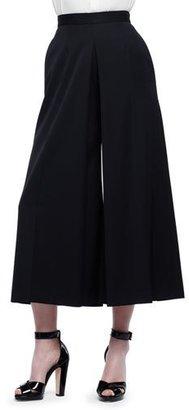 Alexander McQueen High-Waist Wool Culotte Pants $885 thestylecure.com