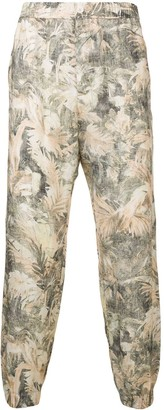 Etro palm print trousers