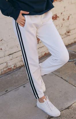 GUESS John Galt Side Stripe White/Blue Jogger Pants