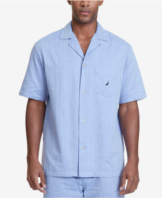 Nautica (ノーティカ) - Nautica Men's Herringbone Comfort Cotton Pajama Shirt
