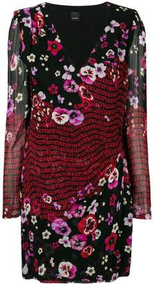 Pinko floral logo print dress