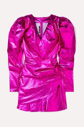 Rotate by Birger Christensen Lamé Mini Dress - Pink