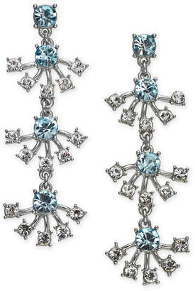 INC International Concepts I.N.C Silver-Tone Crystal & Stone Linear Drop Earrings, Created for Macy's