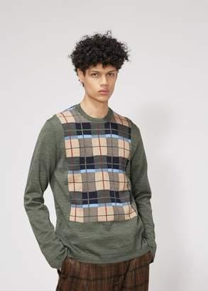 Comme des Garcons Homme Deux Intarsia Check Sweater