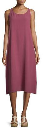 Eileen Fisher Scoop-Neck Silk Tank Dress $368 thestylecure.com