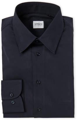 Armani Collezioni Cotton Twill Dress Shirt