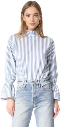 Clu Bell Sleeve Poplin Shirt $183 thestylecure.com