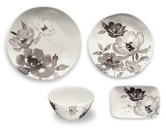 TarHong Savannah Floral 16 Piece Melamine Dinnerware Set, Service for 4