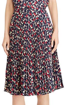 Lauren Ralph Lauren Petite Pleated Crepe A-Line Skirt