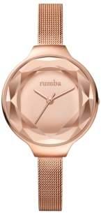 RumbaTime Orchard Gem Mesh Rose Gold Women's Watch