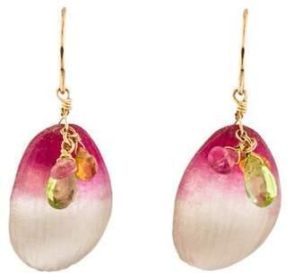 Alexis Bittar Lucite & Crystal Petal Drop Earrings
