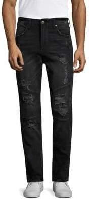 True Religion Racer Distressed Skinny Jeans