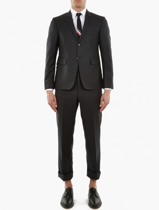 Thom Browne Charcoal Wool Single-Breasted Suit $2,082 thestylecure.com