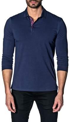Jared Lang Longsleeve Knit Polo Shirt