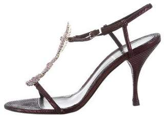 Fendi Embellished Ankle Strap Sandals