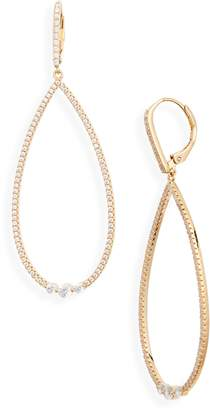Nordstrom Modern Stone Pave Teardrop Earrings