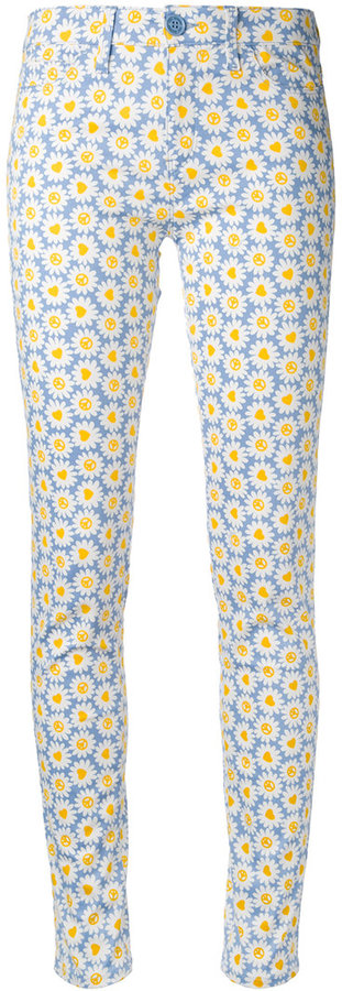 Love MoschinoLove Moschino daisy print skinny trousers