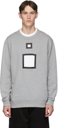 Burberry Grey Melange Cut-Out Sweater