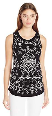 Lucky Brand Women's Embriodered Eyelet Tank Top