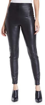 Splendid Faux-Leather Pull-On Leggings