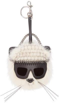 Stella McCartney Ivory Sunglasses Cat Keychain
