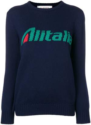 Alberta Ferretti embroidered intarsia sweater