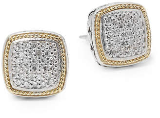 Effy Fine Jewelry 18K & Silver 0.22 Ct. Tw. Diamond Square Earrings