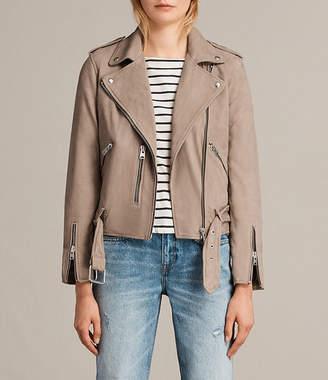 AllSaints Balfern Leather Biker Jacket $560 thestylecure.com