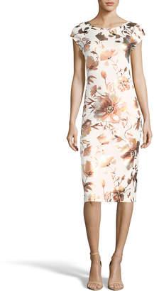 Label By 5twelve Floral Foiled Sheath Dress