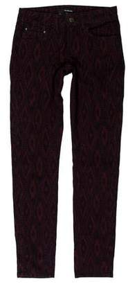 The Kooples Patterned Mid-Rise Jeans