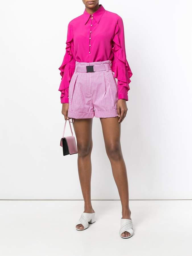 No.21 designer checked shorts
