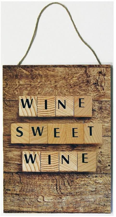 ARTHOUSE Wine Sweet Wine Plaque
