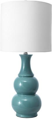 nuLoom 29In Georgina Ceramic Gourd Linen Shade Table Lamp