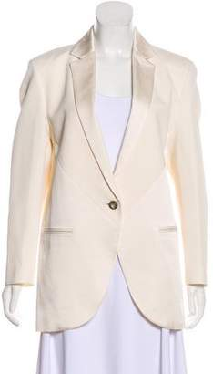 Faith Connexion Satin-Accented Crepe Blazer w/ Tags