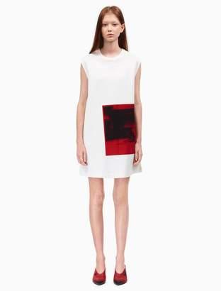 Calvin Klein little electric chair sleeveless dress