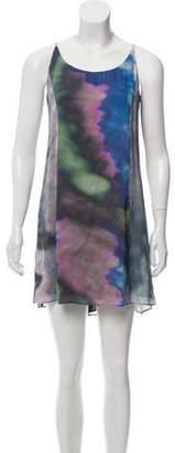 Theyskens' Theory Silk Printed Dress w/ Tags