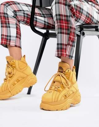 Buffalo David Bitton Classic Hightop Platform Sneakers In Camel