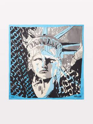 Diane von Furstenberg Statue Of Liberty Silk Scarf
