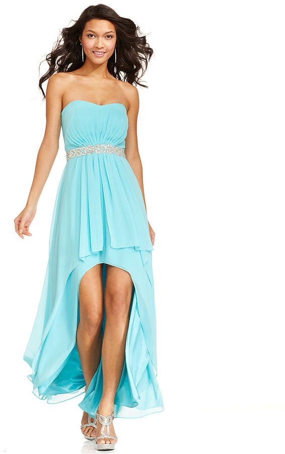 Xscape Evenings Dress, Strapless Sweetheart Jeweled Evening Gown