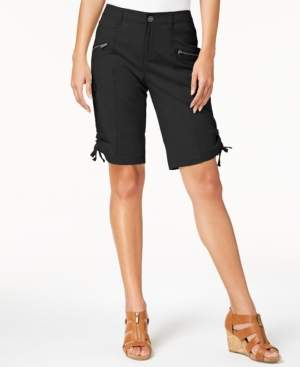 Style&Co. Style & Co Curvy-Fit Zipper Bermuda Shorts, Created for Macy's