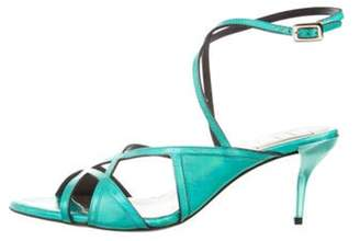 Roger Vivier Prismick Wrap-Around Sandals w/ Tags Green Prismick Wrap-Around Sandals w/ Tags