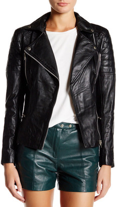 Muubaa Lowndes Genuine Leather Biker Jacket $495 thestylecure.com