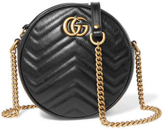 Gucci Gg Marmont Circle Quilted Leather Shoulder Bag - Black