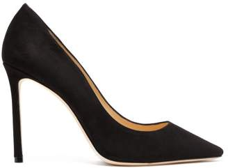 Jimmy Choo Romy 100 Suede Pumps - Womens - Black