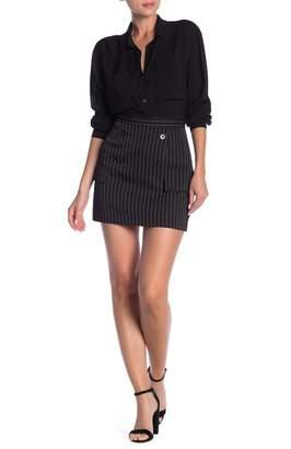 Dress Forum Pinstripe Mini Skirt