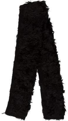 Prada Shearling Knit-Trimmed Scarf