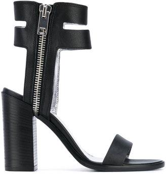 Diesel block heel sandals $271.69 thestylecure.com