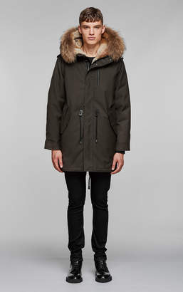 Mackage MORITZ TWILL PARKA WITH FUR HOOD