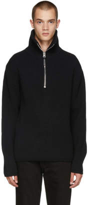 Acne Studios Black Fisherman Zip Sweater